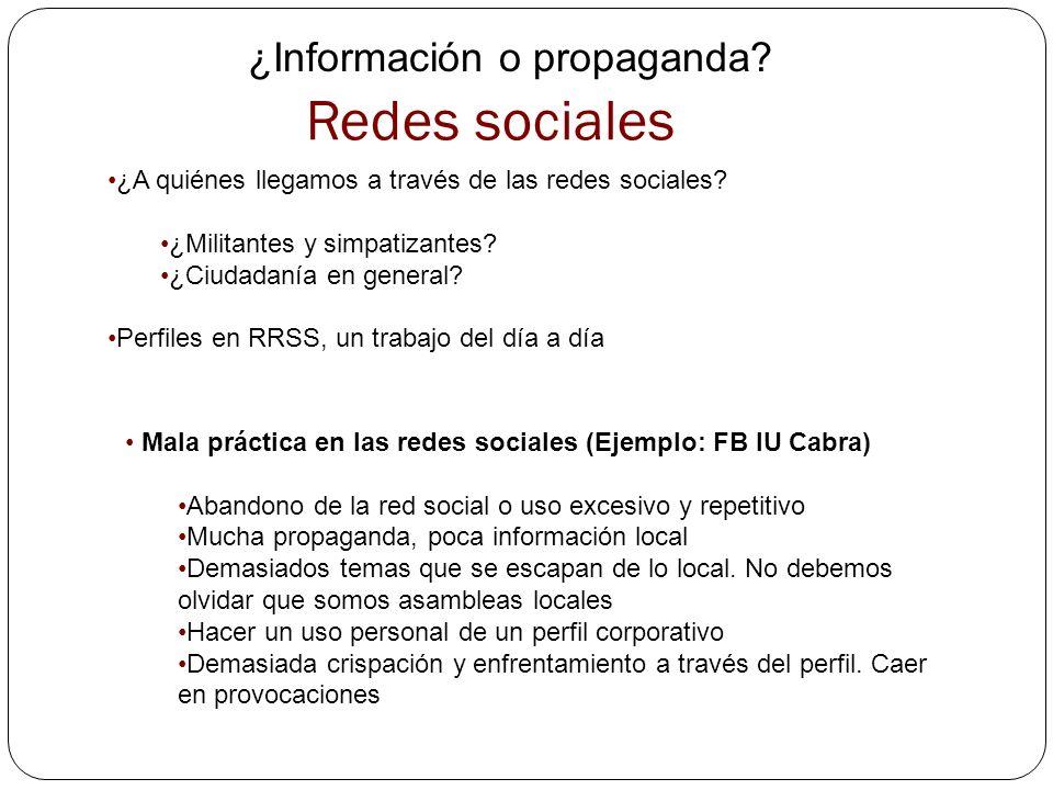 Redes sociales ¿Información o propaganda