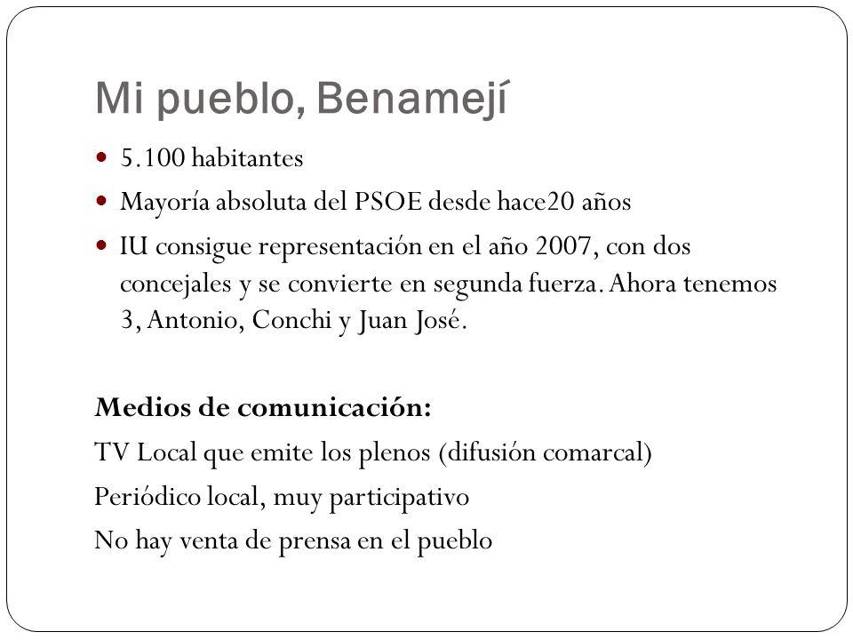 Mi pueblo, Benamejí 5.100 habitantes