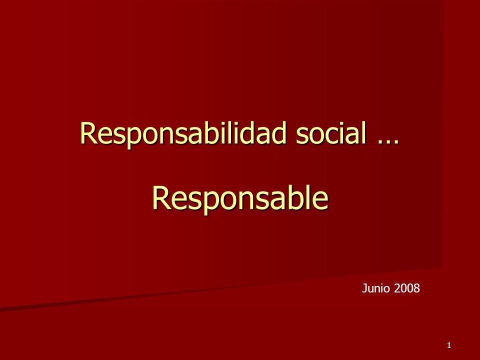 Responsabilidad social …