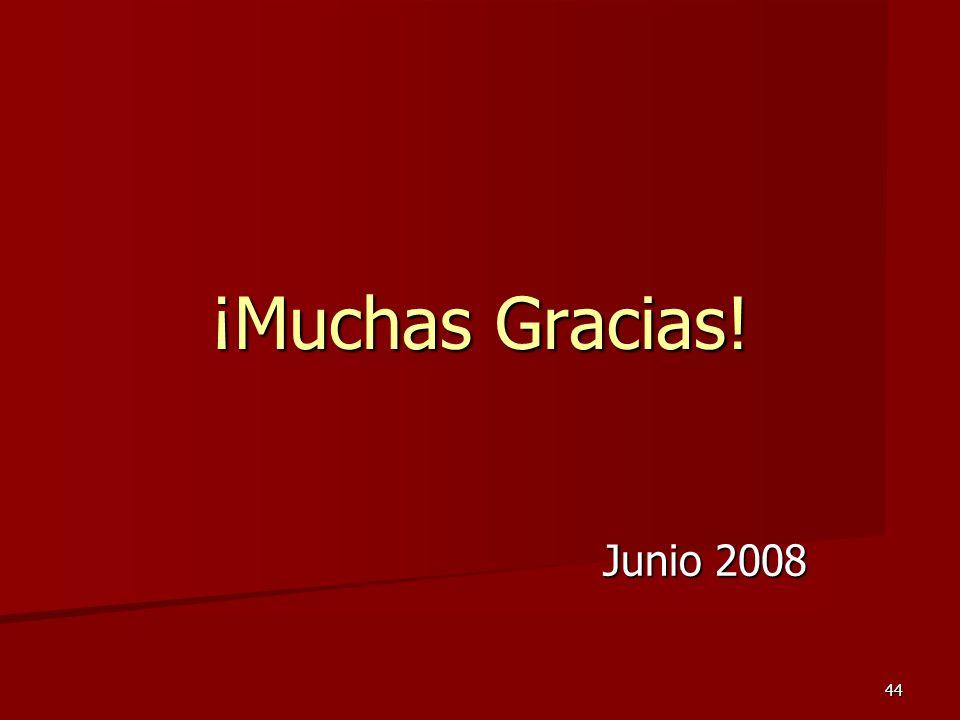 ¡Muchas Gracias! Junio 2008