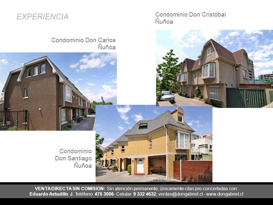 EXPERIENCIA Condominio Don Cristóbal Ñuñoa Condominio Don Carlos Ñuñoa