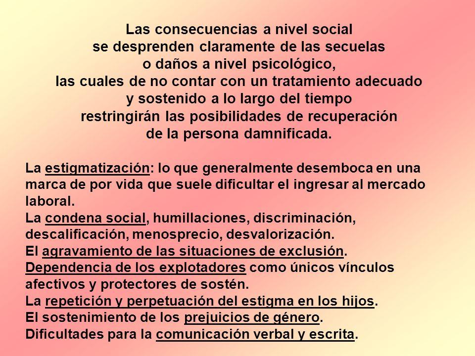 Las consecuencias a nivel social