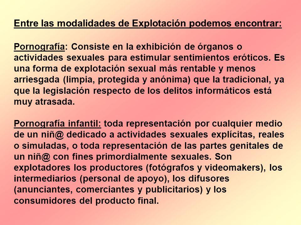 Entre las modalidades de Explotación podemos encontrar: