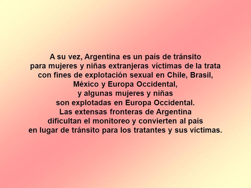 A su vez, Argentina es un país de tránsito