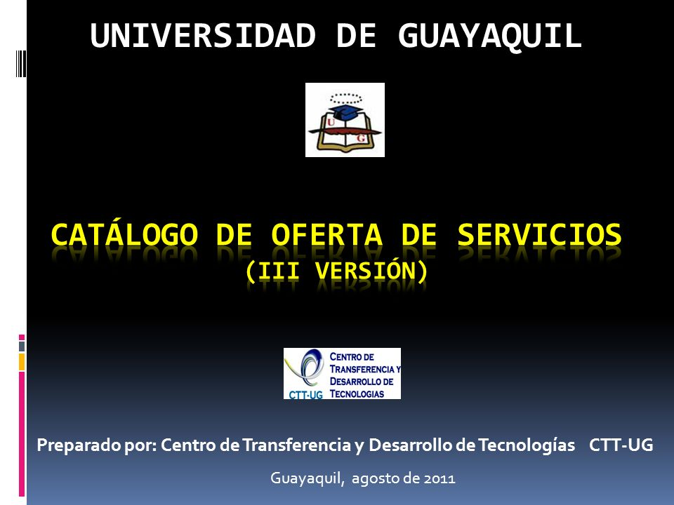 CATÁLOGO DE OFERTA DE SERVICIOS (III versión)