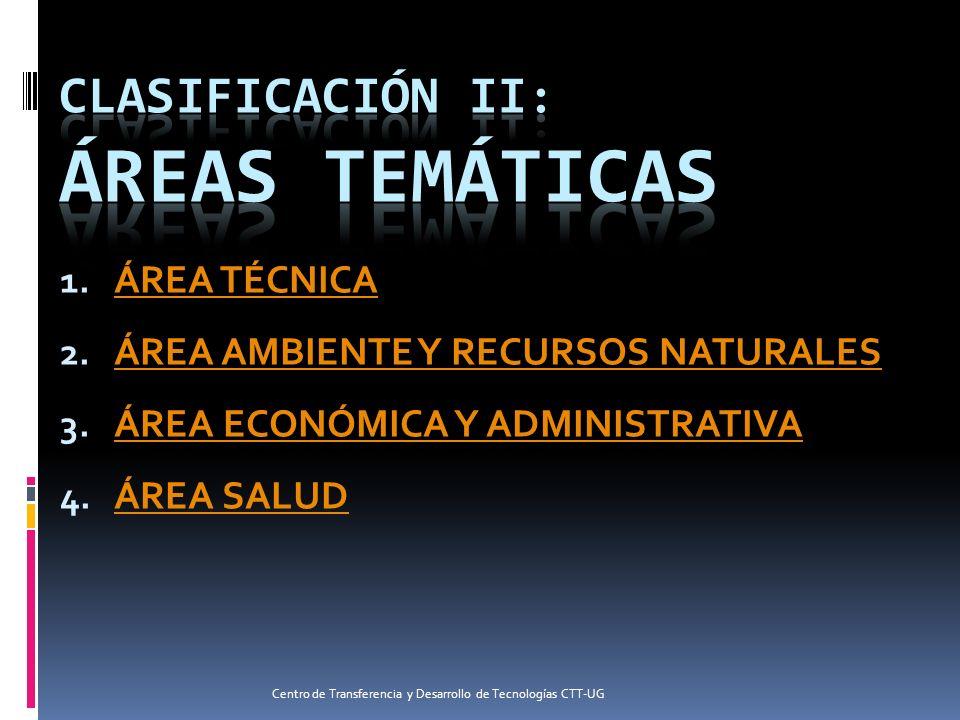 CLASIFICACIÓN II: ÁREAS TEMÁTICAS