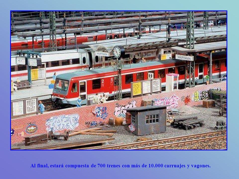 Al final, estará compuesta de 700 trenes con más de 10