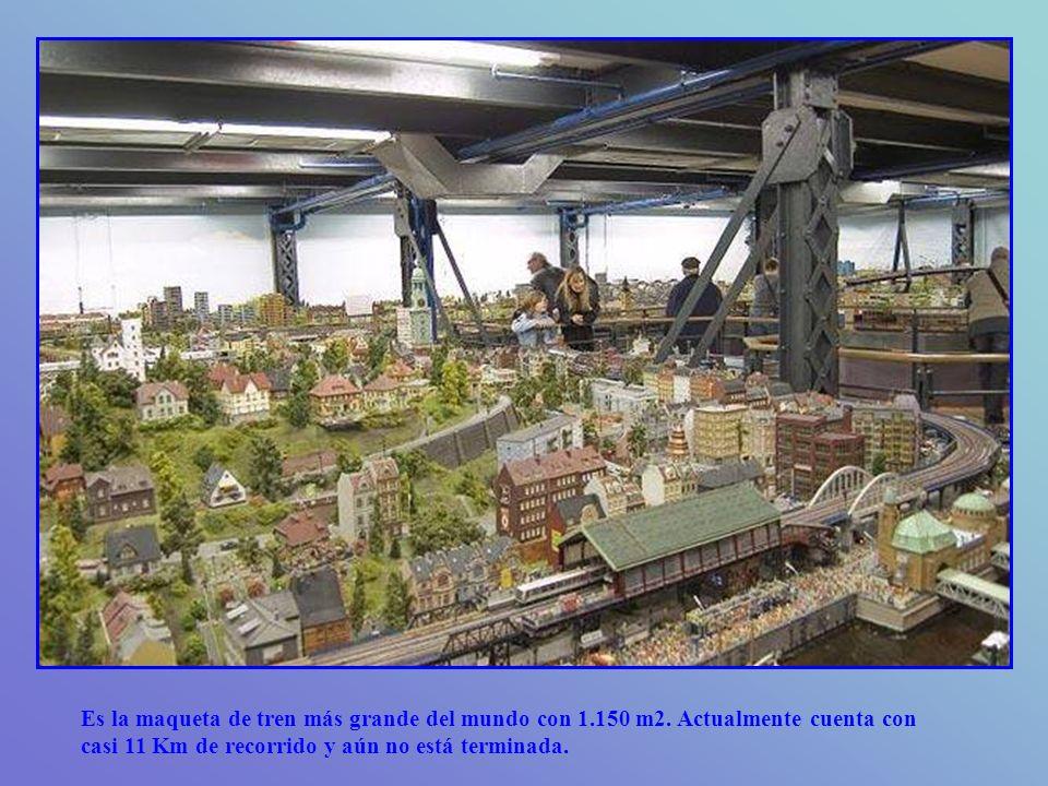 Es la maqueta de tren más grande del mundo con 1. 150 m2