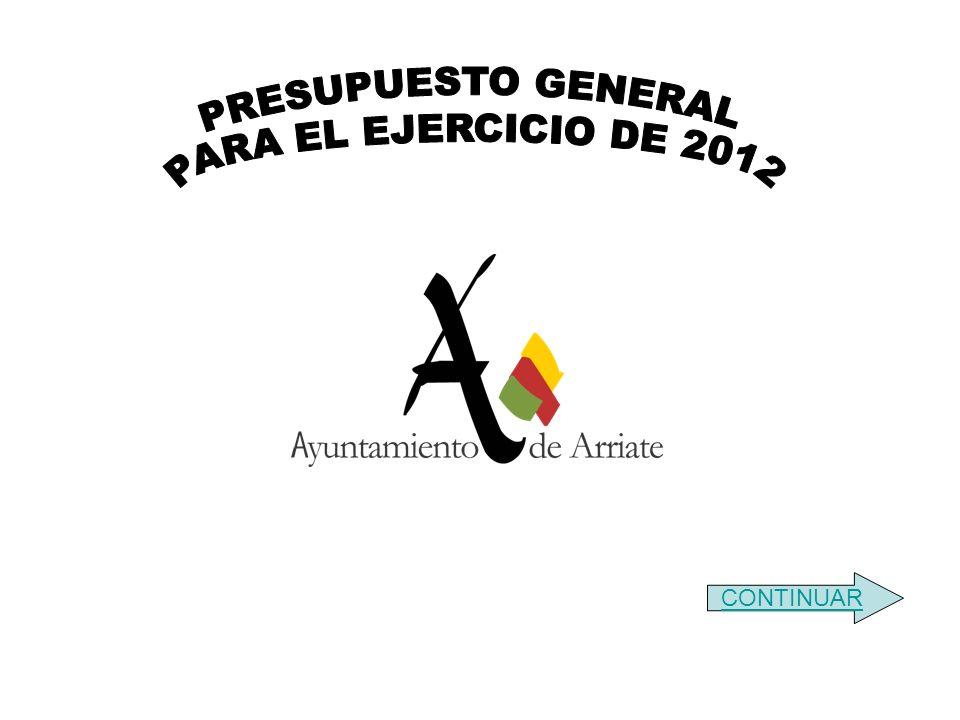 PRESUPUESTO GENERAL PARA EL EJERCICIO DE 2012 CONTINUAR