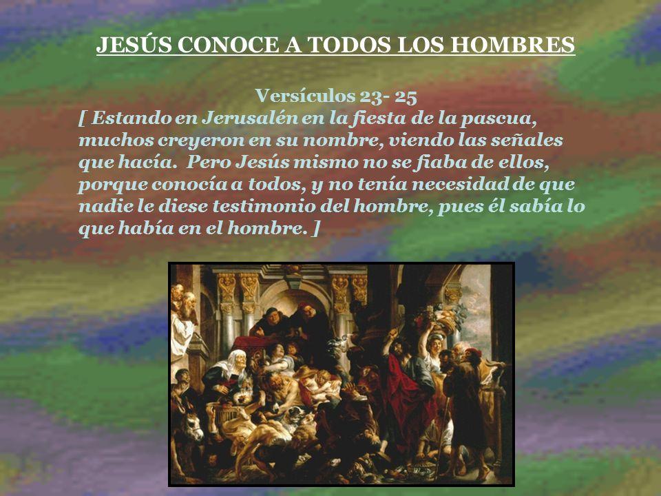 JESÚS CONOCE A TODOS LOS HOMBRES