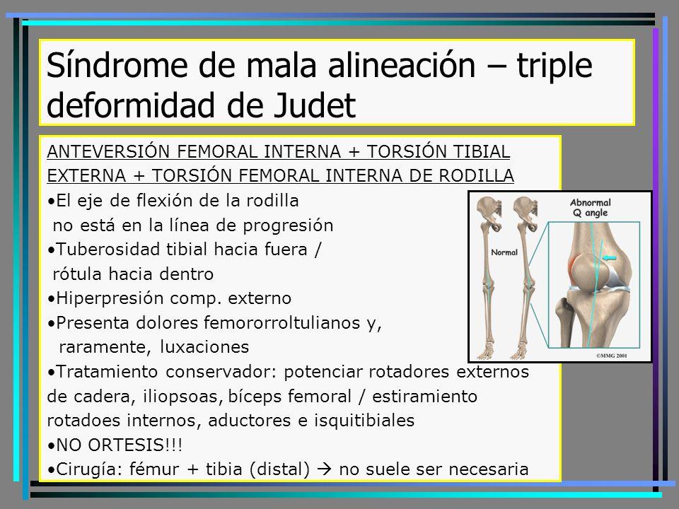 Síndrome de mala alineación – triple deformidad de Judet