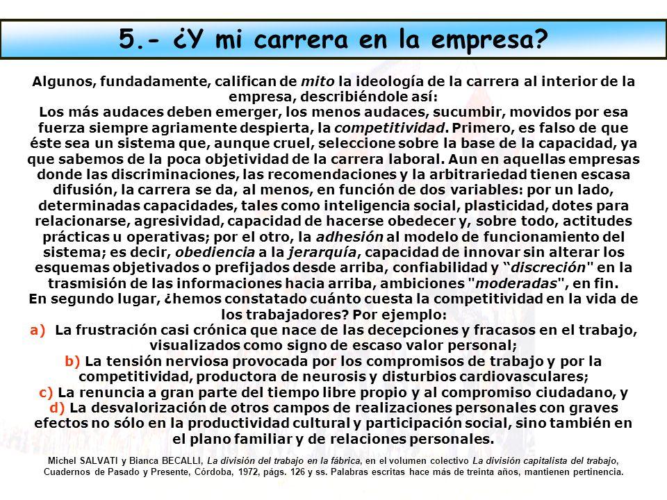 5.- ¿Y mi carrera en la empresa