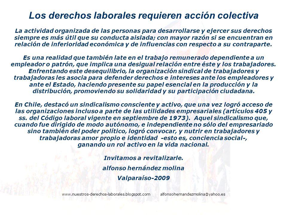 Los derechos laborales requieren acción colectiva