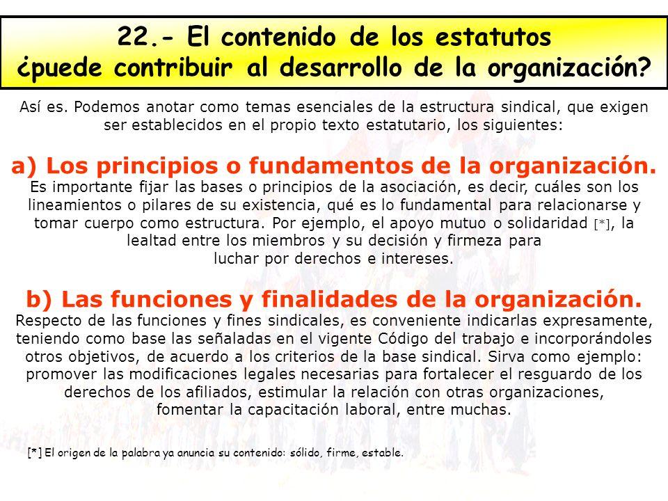 ¿puede contribuir al desarrollo de la organización