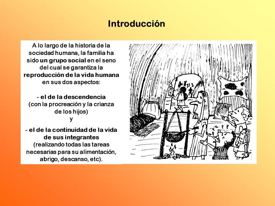 - el de la descendencia (con la procreación y la crianza de los hijos)