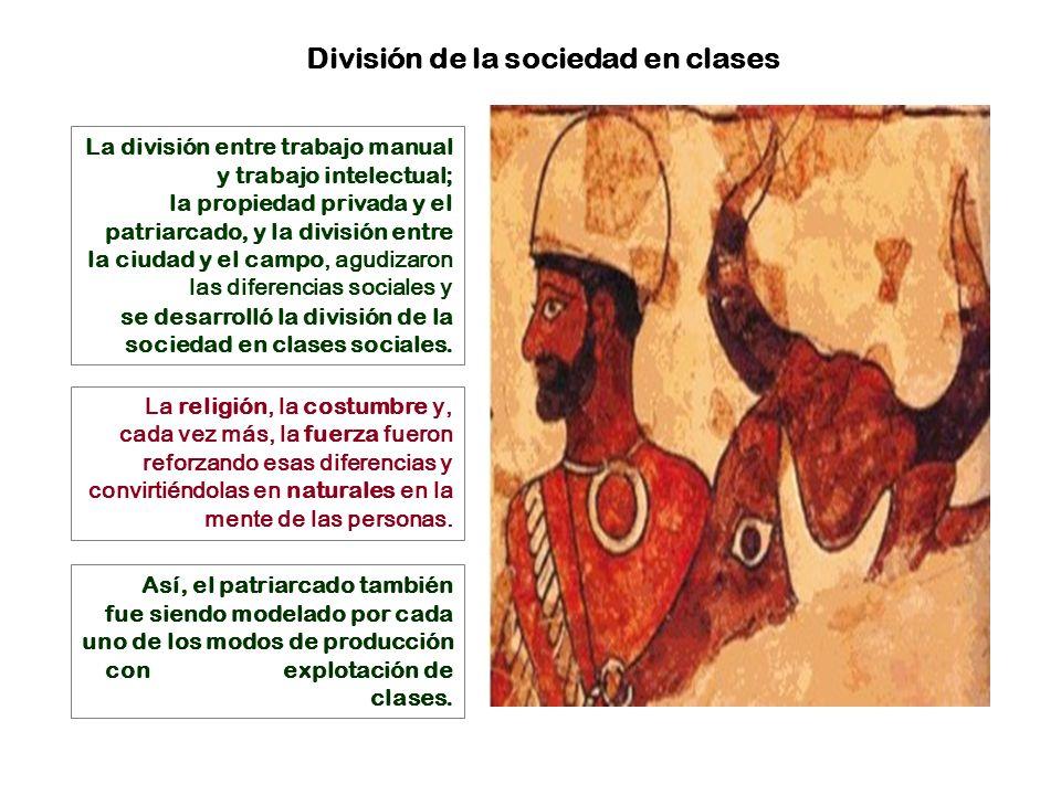 División de la sociedad en clases