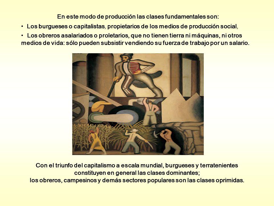 En este modo de producción las clases fundamentales son: