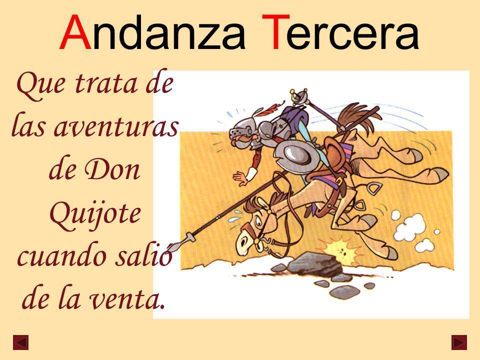 Que trata de las aventuras de Don Quijote cuando salió de la venta.