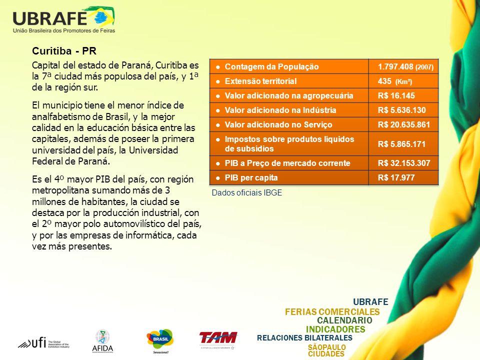 Curitiba - PR Capital del estado de Paraná, Curitiba es la 7ª ciudad más populosa del país, y 1ª de la región sur.