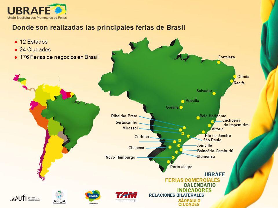 Donde son realizadas las principales ferias de Brasil