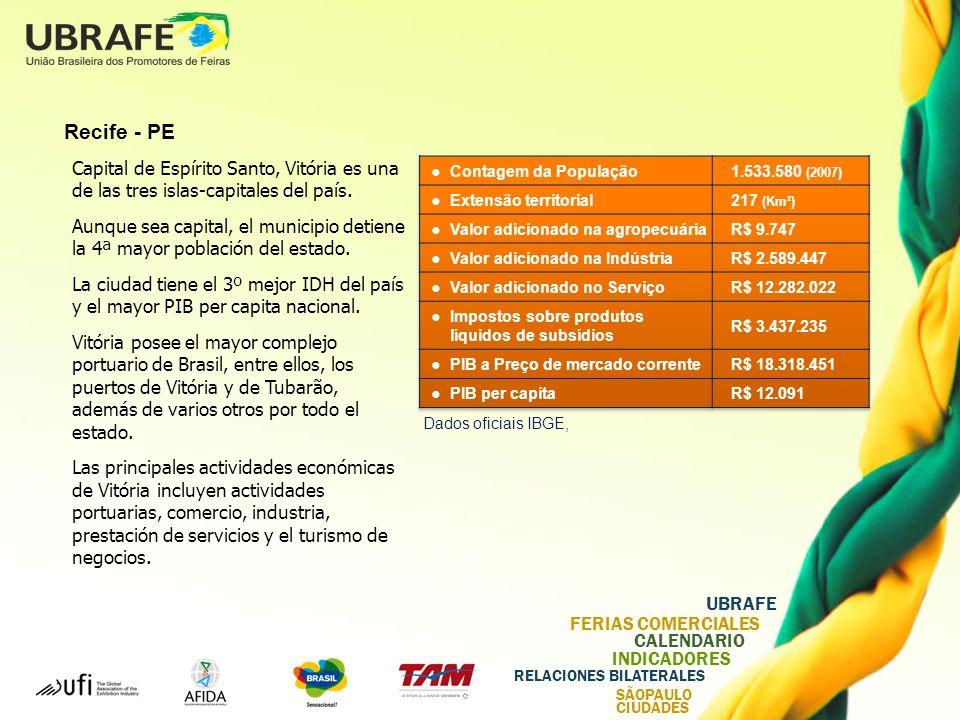 Recife - PE Capital de Espírito Santo, Vitória es una de las tres islas-capitales del país.