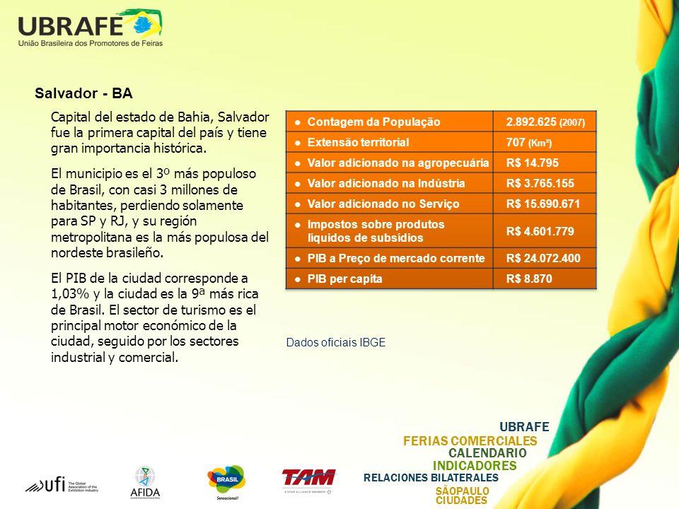 Salvador - BA Capital del estado de Bahia, Salvador fue la primera capital del país y tiene gran importancia histórica.