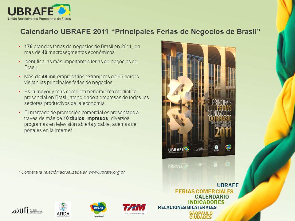 Calendario UBRAFE 2011 Principales Ferias de Negocios de Brasil