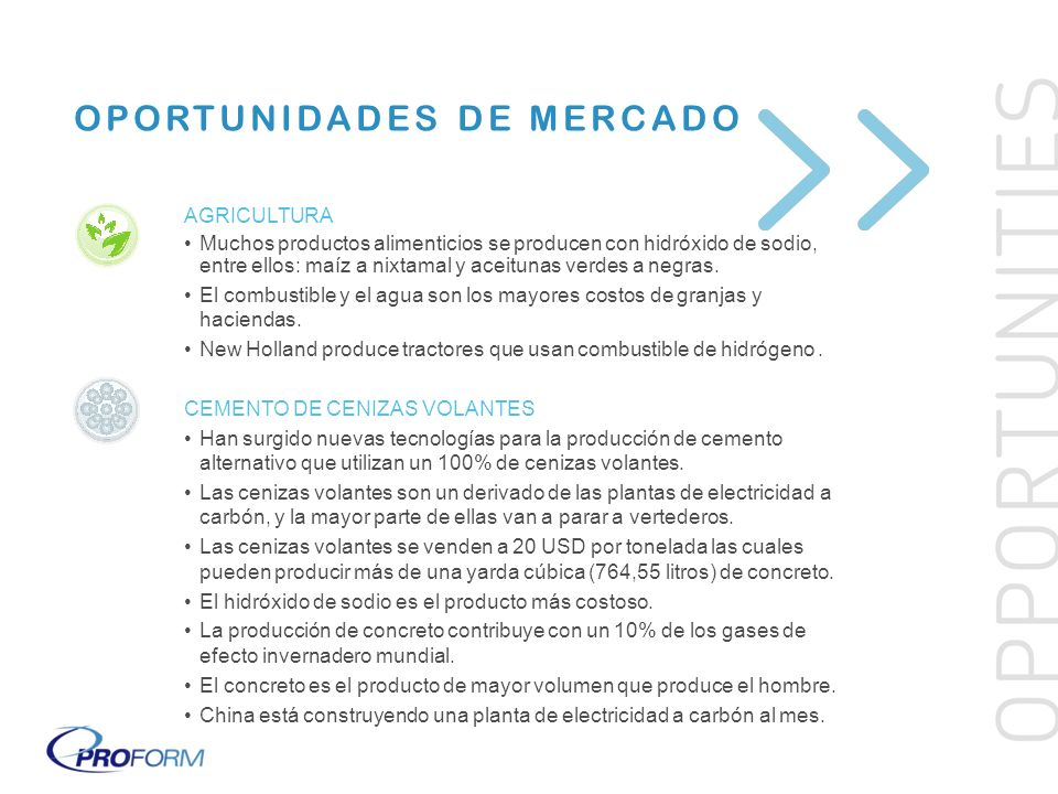 OPORTUNIDADES DE MERCADO