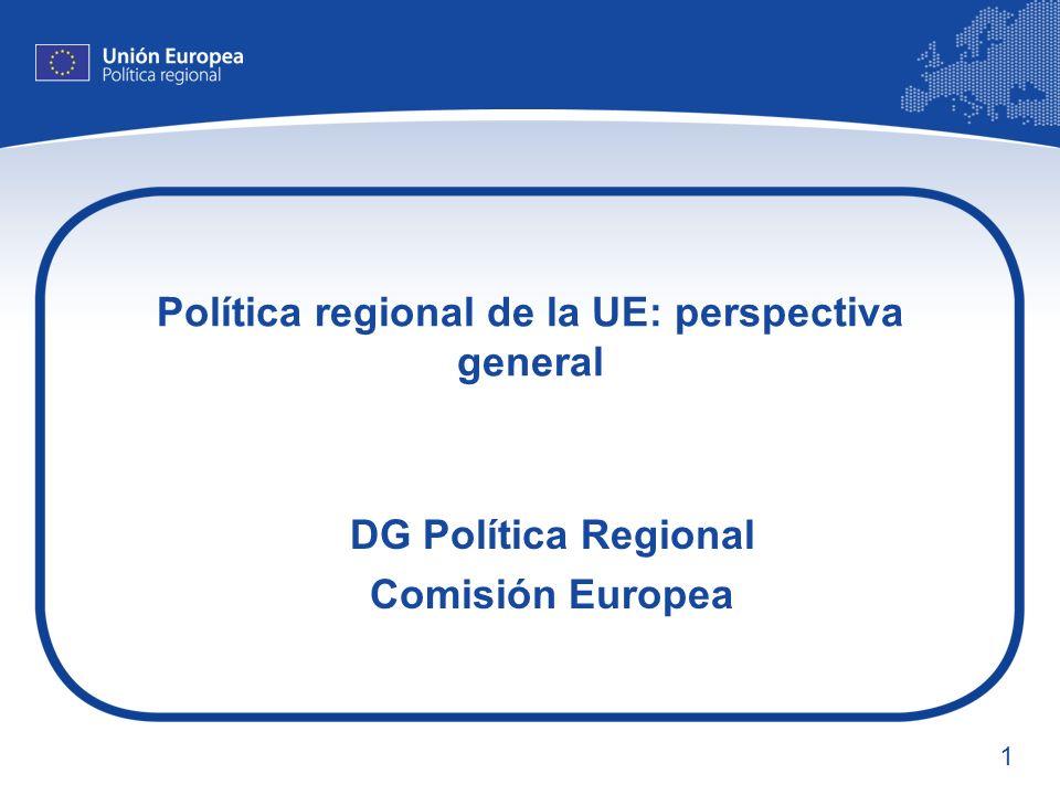 Política regional de la UE: perspectiva general