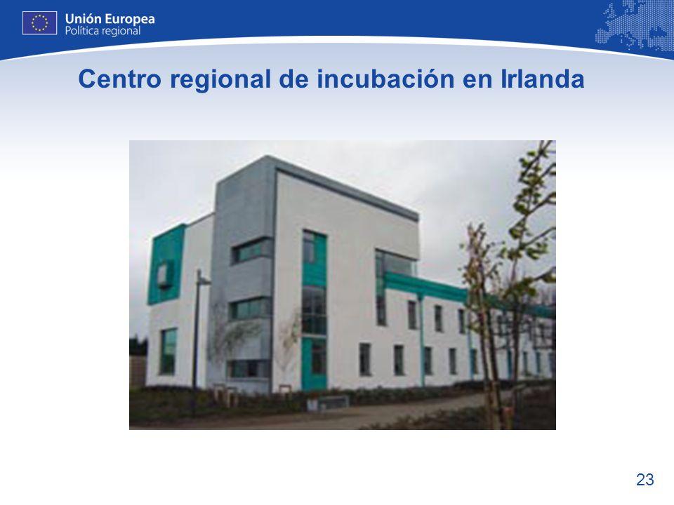Centro regional de incubación en Irlanda