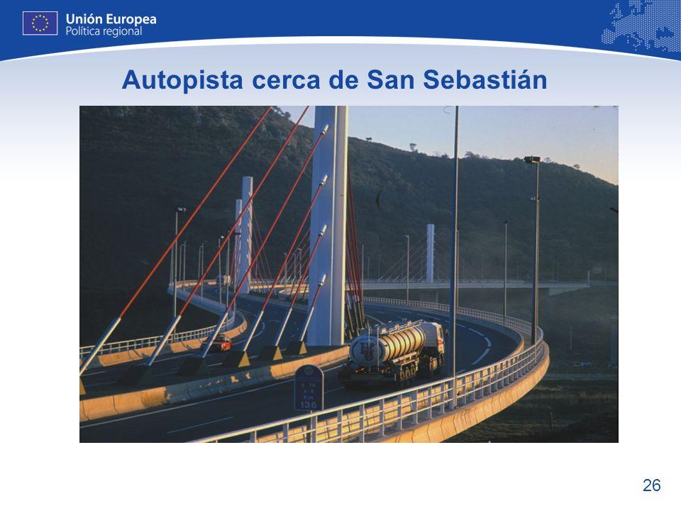 Autopista cerca de San Sebastián