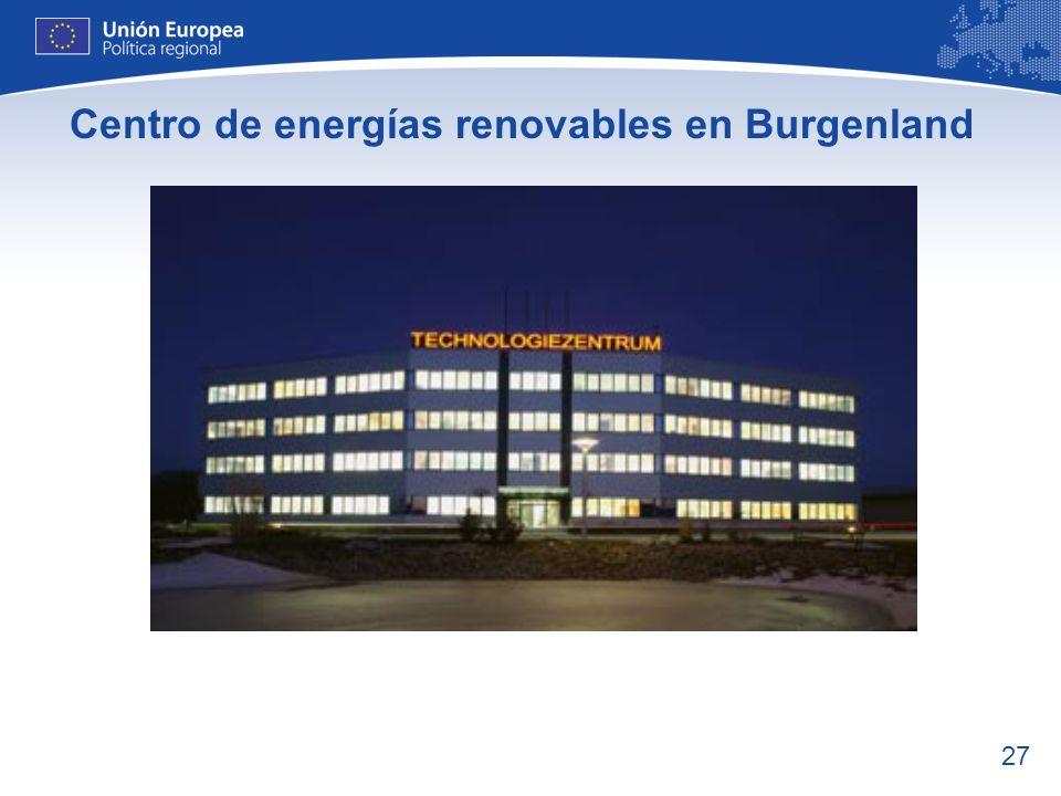 Centro de energías renovables en Burgenland