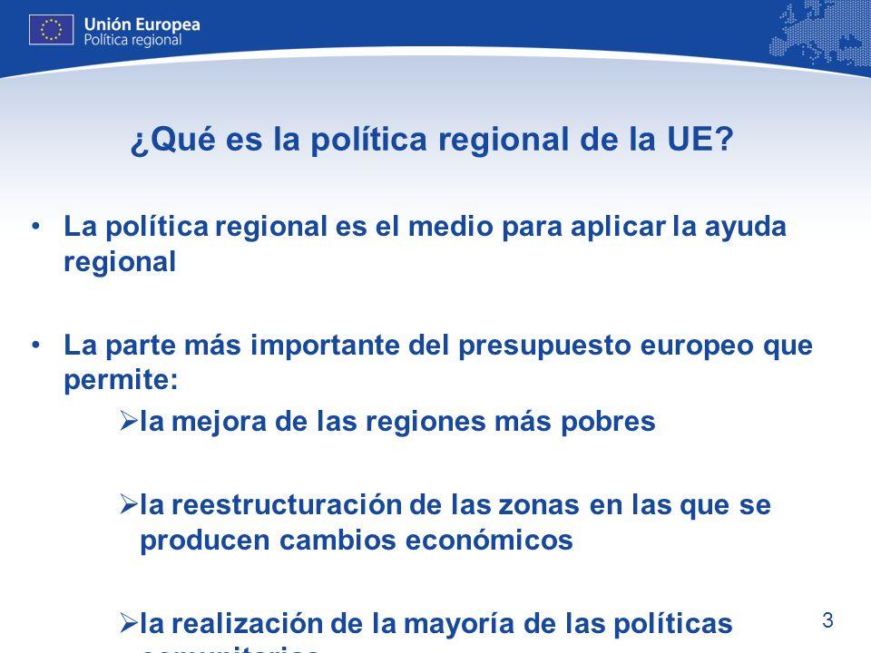 ¿Qué es la política regional de la UE