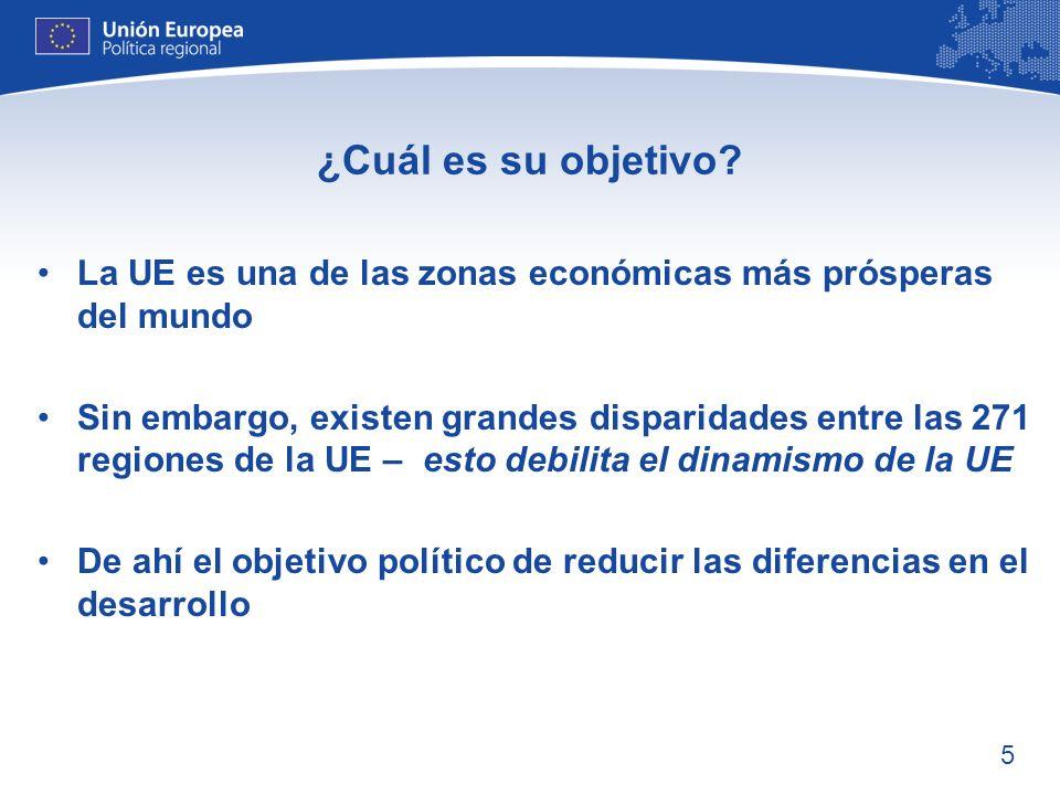 ¿Cuál es su objetivo La UE es una de las zonas económicas más prósperas del mundo.