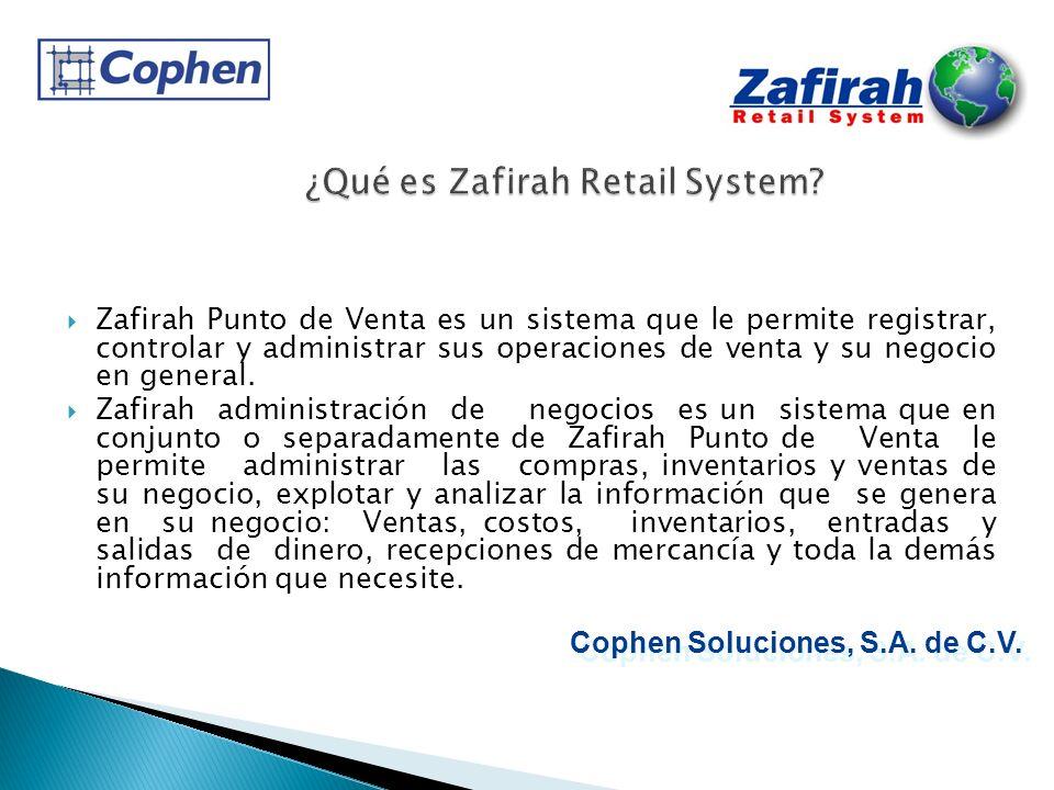 ¿Qué es Zafirah Retail System