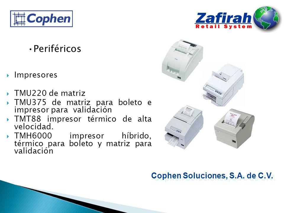 Periféricos Impresores TMU220 de matriz