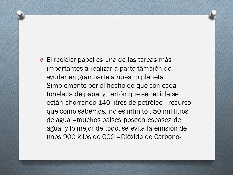 El reciclar papel es una de las tareas más importantes a realizar a parte también de ayudar en gran parte a nuestro planeta.