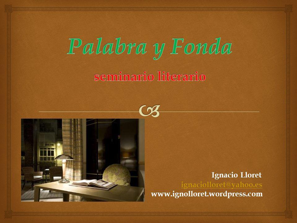 Palabra y Fonda seminario literario