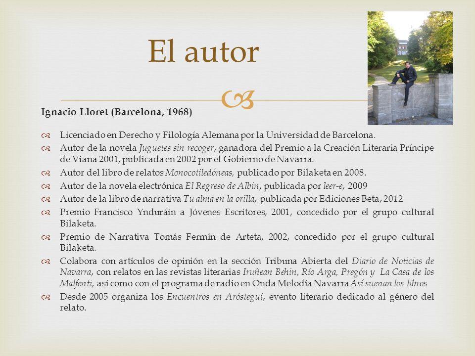 El autor Ignacio Lloret (Barcelona, 1968)