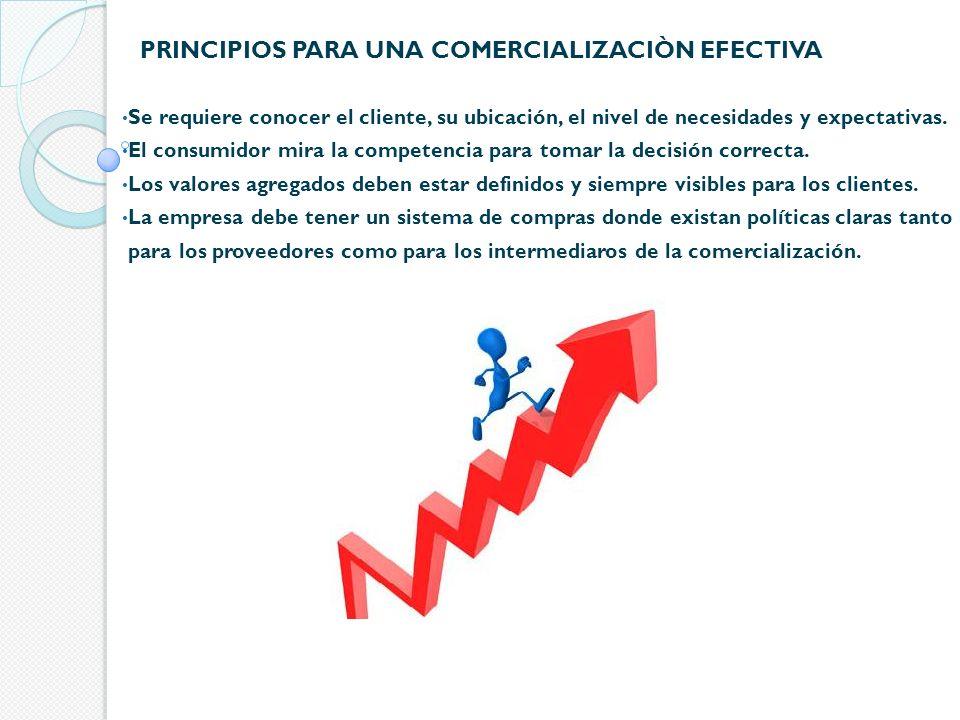 PRINCIPIOS PARA UNA COMERCIALIZACIÒN EFECTIVA