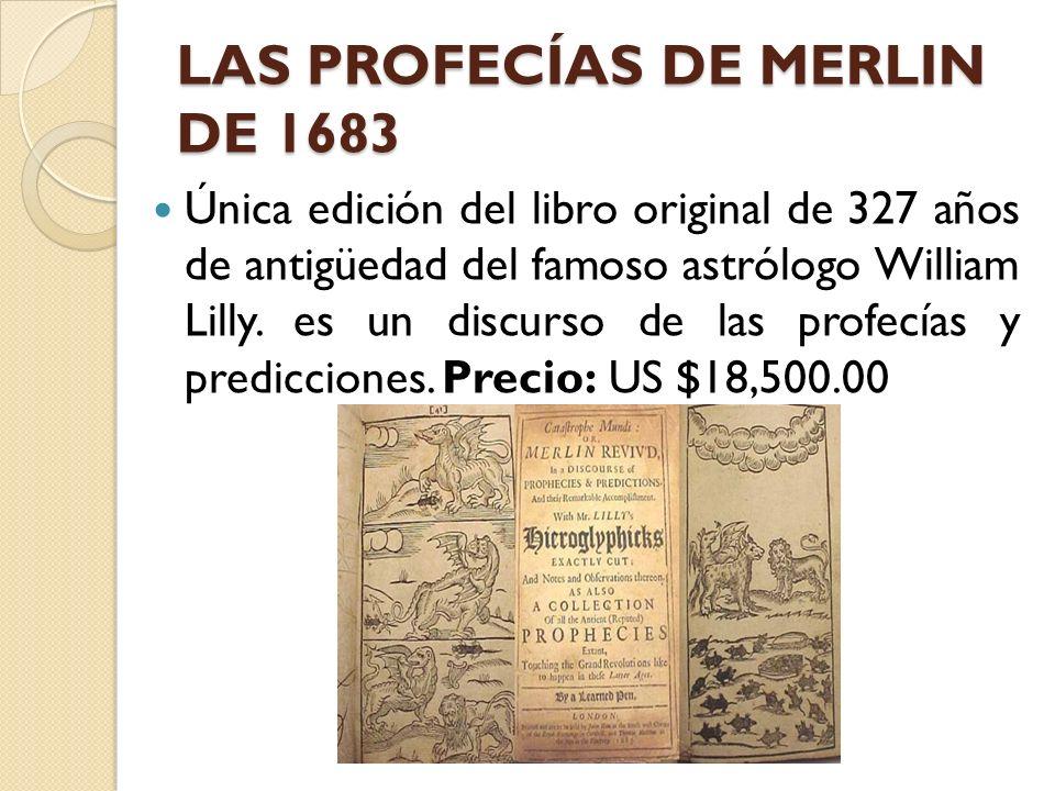 LAS PROFECÍAS DE MERLIN DE 1683