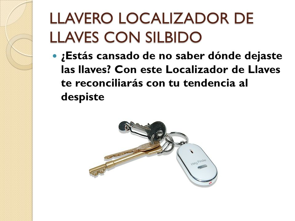 LLAVERO LOCALIZADOR DE LLAVES CON SILBIDO