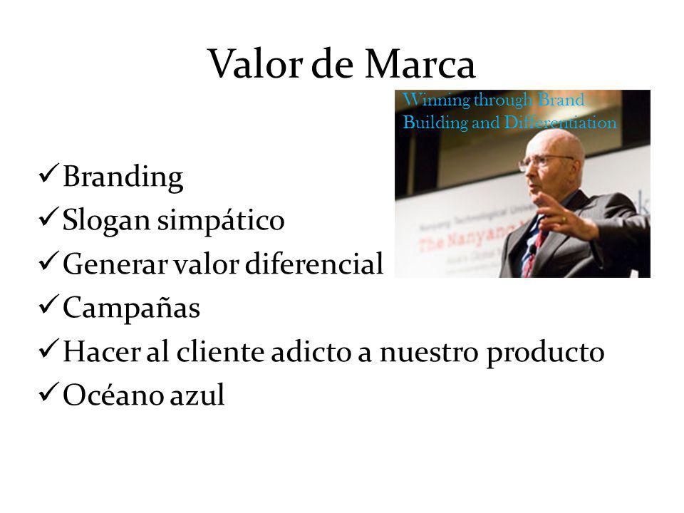 Valor de Marca Branding Slogan simpático Generar valor diferencial
