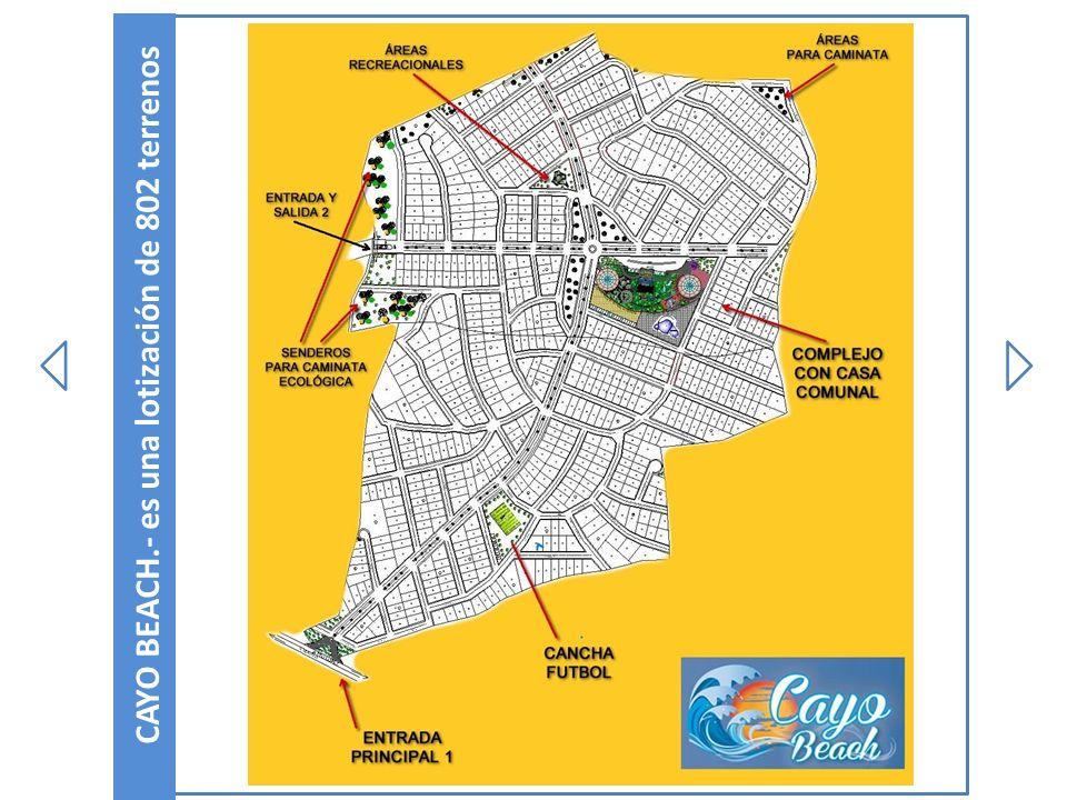 CAYO BEACH.- es una lotización de 802 terrenos