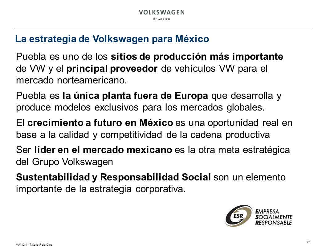 La estrategia de Volkswagen para México