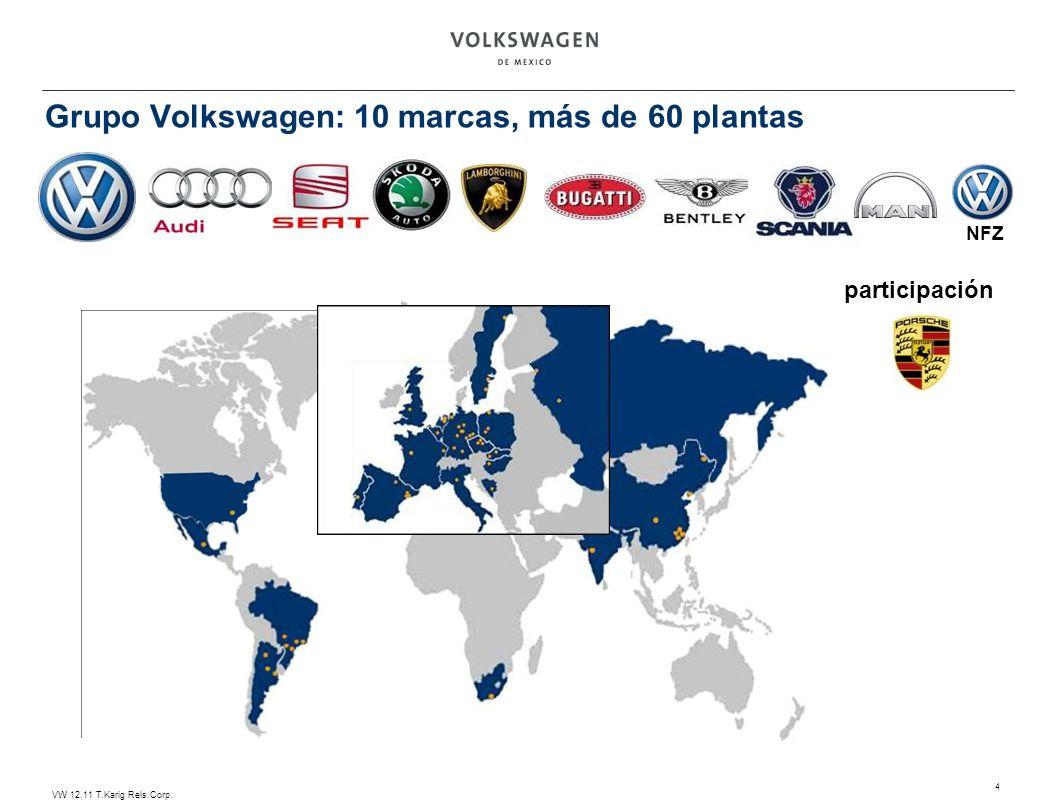 Grupo Volkswagen: 10 marcas, más de 60 plantas