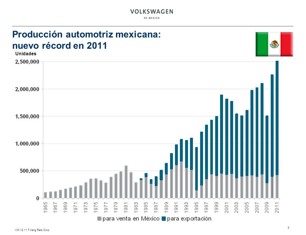 Producción automotriz mexicana: nuevo récord en 2011