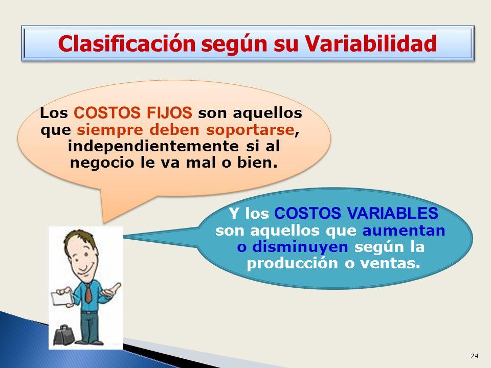 Clasificación según su Variabilidad