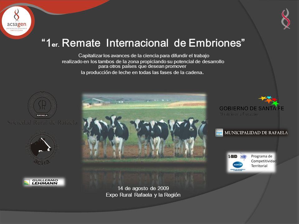1er. Remate Internacional de Embriones