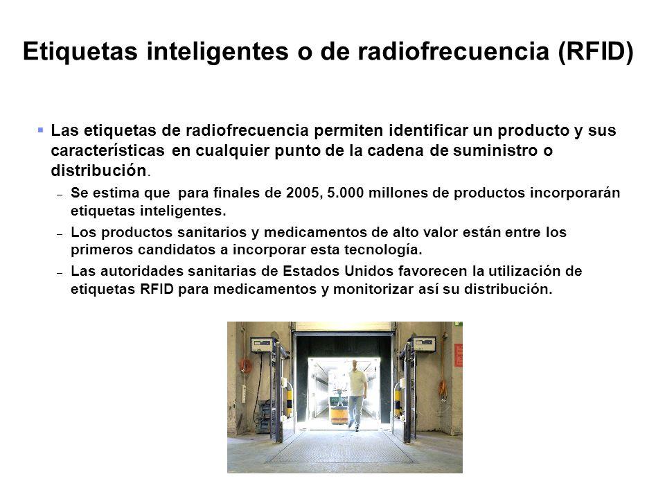Etiquetas inteligentes o de radiofrecuencia (RFID)